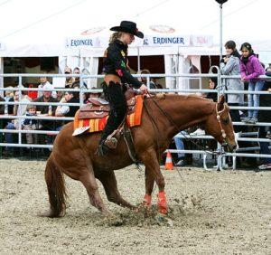 Westernreiten auf der Veranstaltung Pferd International.